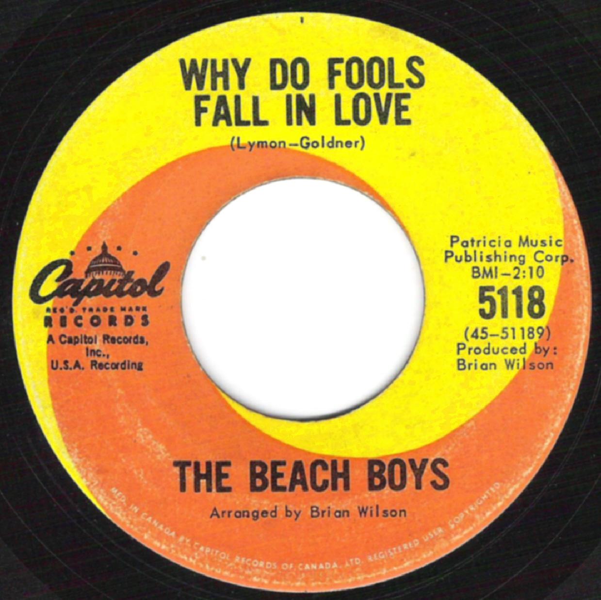 beach boys on 45 regular capitol 1962 64 a side brian wilson mike love credit