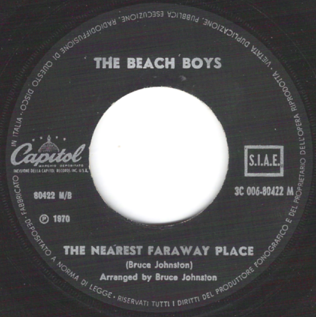 beach boys on 45 italy capitol 1967 1970. Black Bedroom Furniture Sets. Home Design Ideas