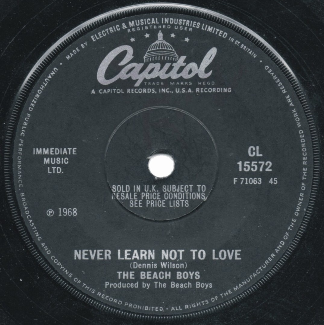 Lyrics for Never Learn Not To Love by The Beach Boys ...