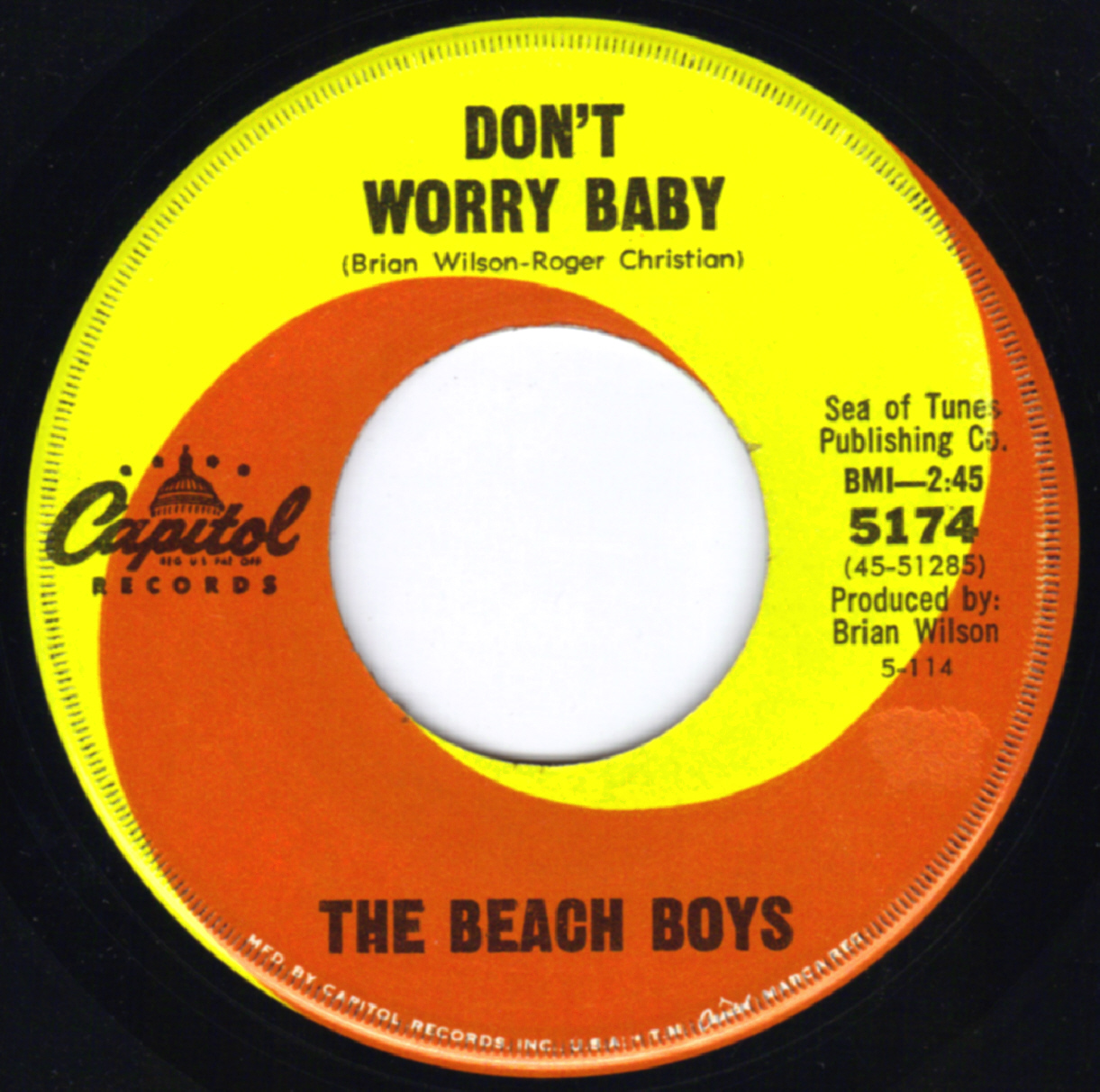 Beach Boys On 45 Us Regular Issues Capitol Labels 1964