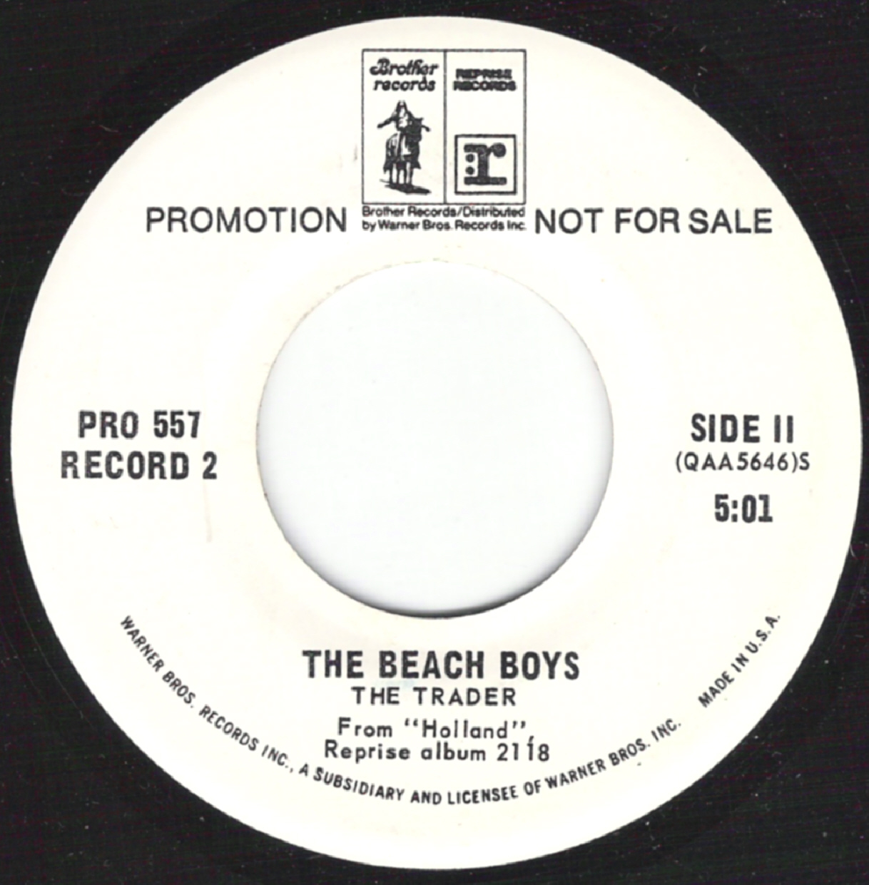 Beach Boys On 45 Us Regular Issues Brother Reprise
